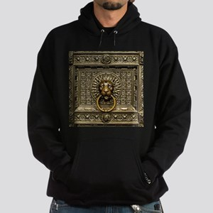 Doorknocker Lion Brass Hoodie (dark)