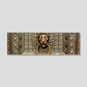Doorknocker Lion Brass Car Magnet 10 x 3
