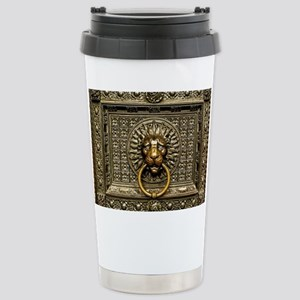 Doorknocker Lion 16 oz Stainless Steel Travel Mug