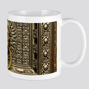 Doorknocker Lion Brass 11 oz Ceramic Mug