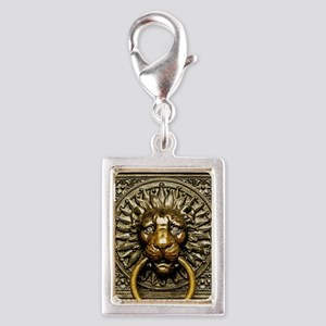 Doorknocker Lion Brass Silver Portrait Charm