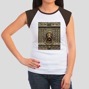 Doorknocker Lion Brass Junior's Cap Sleeve T-Shirt