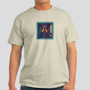 Huichol Art: 'Twin Serpents' Men's Light T-Shirt
