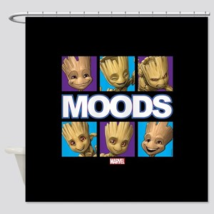 GOTG Groot Moods Shower Curtain