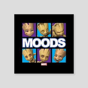"GOTG Groot Moods Square Sticker 3"" x 3"""