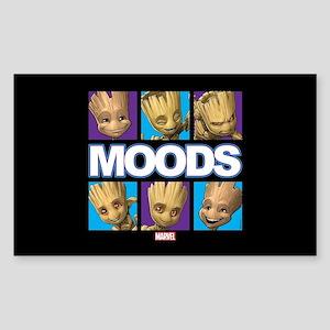 GOTG Groot Moods Sticker (Rectangle)