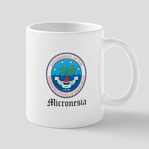 Micronesian Coat of Arms Seal Large Mugs