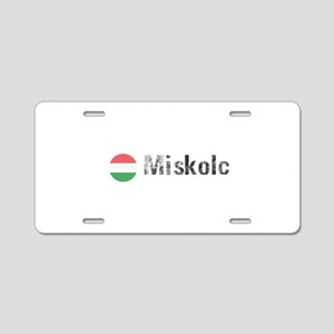 Miskolc Aluminum License Plate
