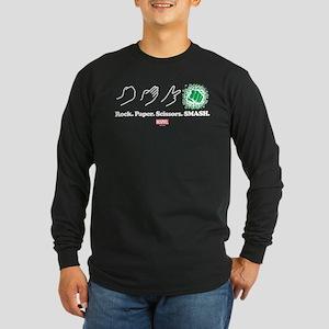 Hulk Smash Long Sleeve Dark T-Shirt