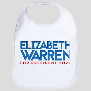 Elizabeth Warren for President Cotton Baby Bib