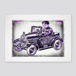 boy and his first car 5'x7'Area Rug
