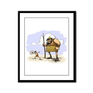 David & Goliath Framed Panel Print