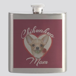 Chihuahua Mom Flask