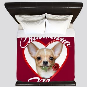 Chihuahua Mom King Duvet