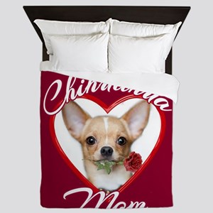 Chihuahua Mom Queen Duvet