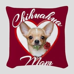 Chihuahua Mom Woven Throw Pillow