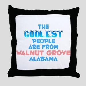 Coolest: Walnut Grove, AL Throw Pillow