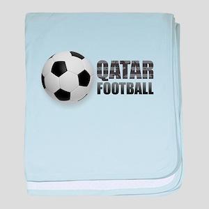 Qatar Football baby blanket