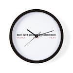 """""""Commitment"""" Wall Clock"""