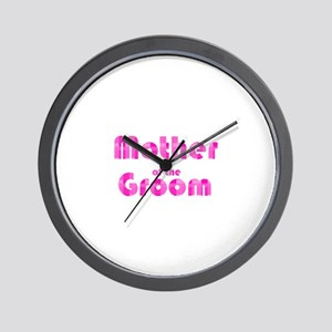 Mother Of The Groom - Pink Bu Wall Clock