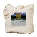 Sacred Tree Eclipse Tote Bag