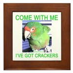 I've Got Crackers Framed Tile