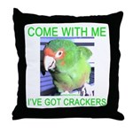 I've Got Crackers Throw Pillow