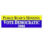 Purge Bush's Minions Bumper Sticker