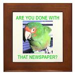 Useful Newspaper Framed Tile