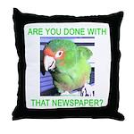 Useful Newspaper Throw Pillow