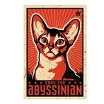 Obey the Abyssinian! Retro Postcards (8 Pack!)