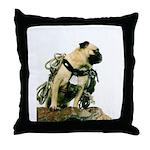 Vinny the Pug Throw Pillow