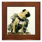 Vinny the Pug Framed Tile