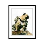 Vinny the Pug Framed Panel Print
