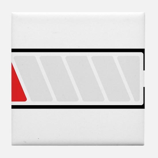 Flat. Need to Recharge Tile Coaster