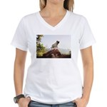 Vinny the Pug Women's V-Neck T-Shirt