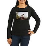 Vinny the Pug Women's Long Sleeve Dark T-Shirt