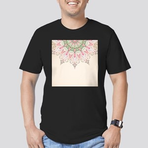 Decorative Floral Men's Fitted T-Shirt (dark)