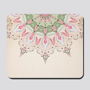 Decorative Floral Mousepad