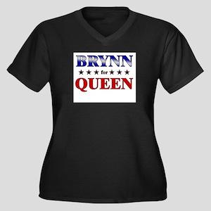 BRYNN for queen Women's Plus Size V-Neck Dark T-Sh