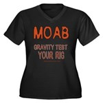 Moab Women's Plus Size V-Neck Dark T-Shirt