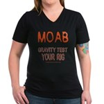 Moab Women's V-Neck Dark T-Shirt