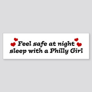 Feel Safe with a Philly Girl Bumper Sticker