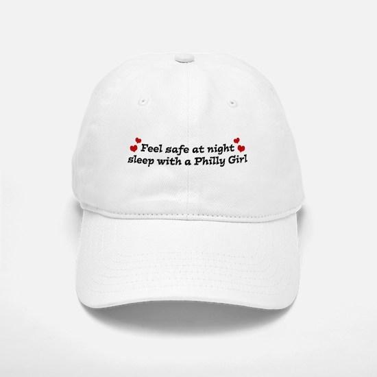 Feel Safe with a Philly Girl Baseball Baseball Cap