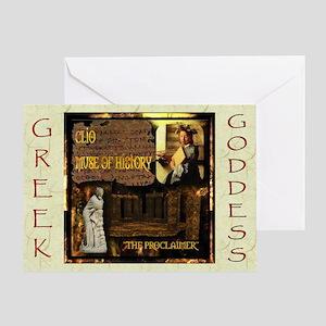 Greek Goddess Clio Greeting Card