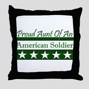 Aunt of an American Soldier Throw Pillow