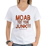 MOAB TEST Women's V-Neck T-Shirt
