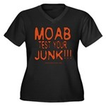 MOAB TEST Women's Plus Size V-Neck Dark T-Shirt