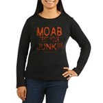 MOAB TEST Women's Long Sleeve Dark T-Shirt