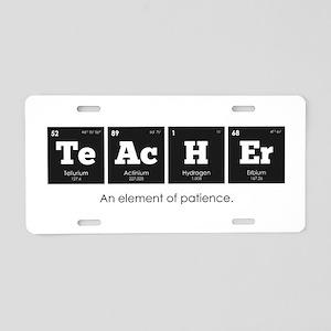 Periodic Elements: TeAcHEr Aluminum License Plate